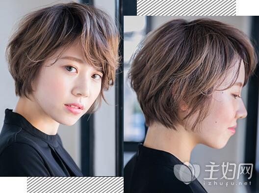 斜刘海短发