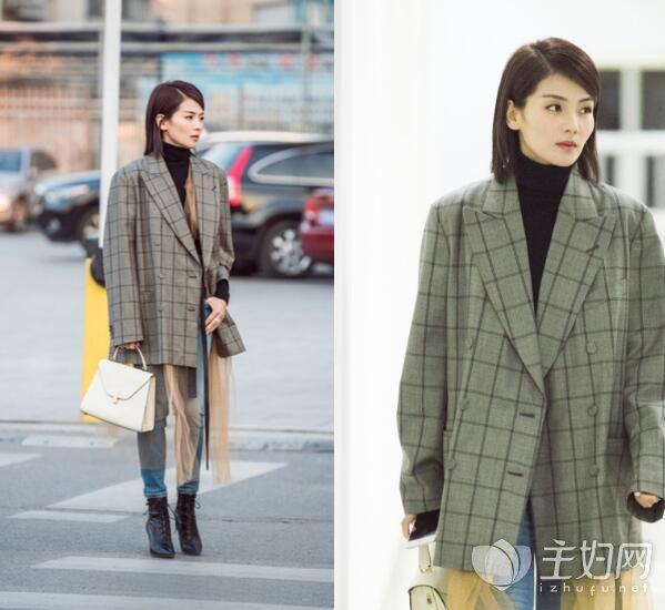 Baby倪妮刘亦菲都爱穿西装+裙子
