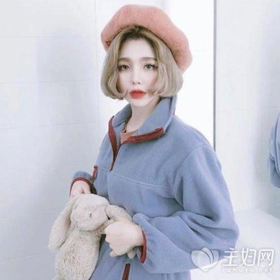 韩式齐嘴短发发型图片