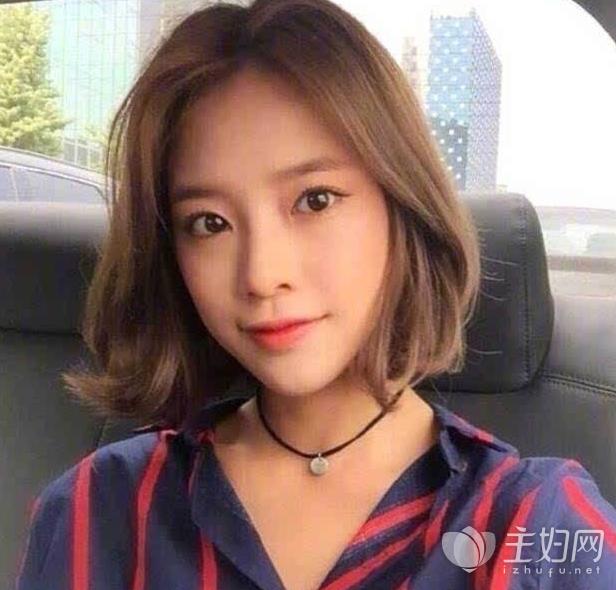 圆脸适合留的短发发型款式图片