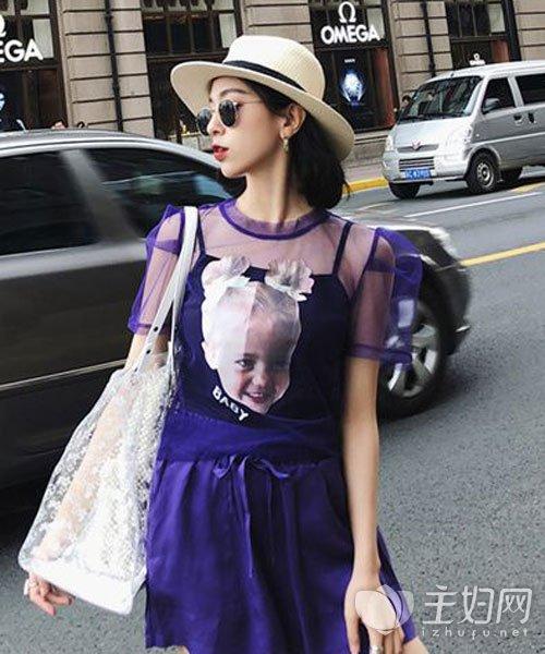 紫色T恤搭配技巧