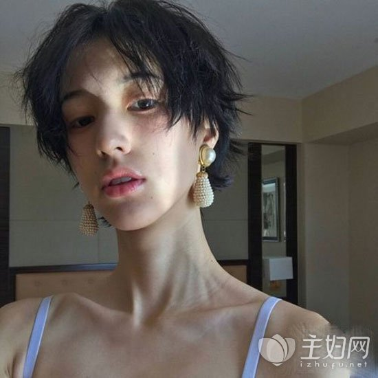 中性短发发型图片