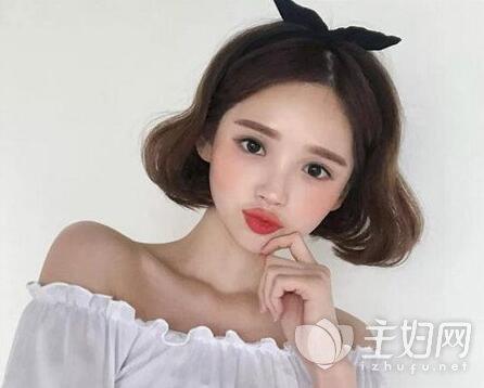短发泡面头发型图片