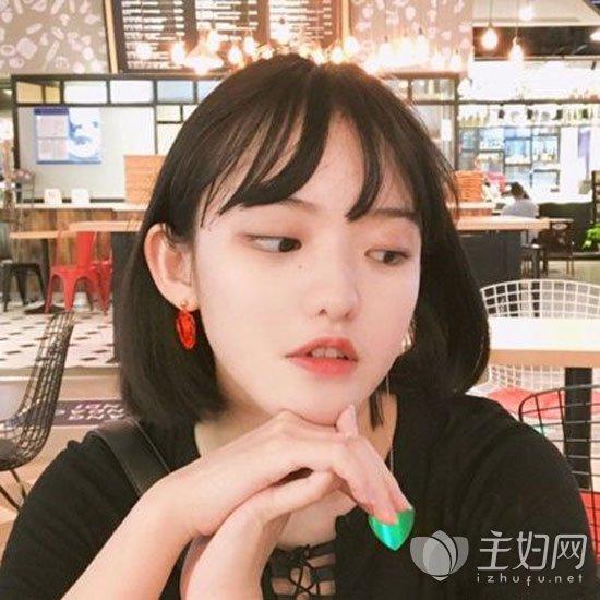 短发刘海发型图片