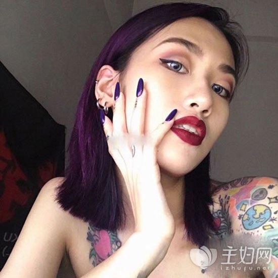 深紫色头发颜色