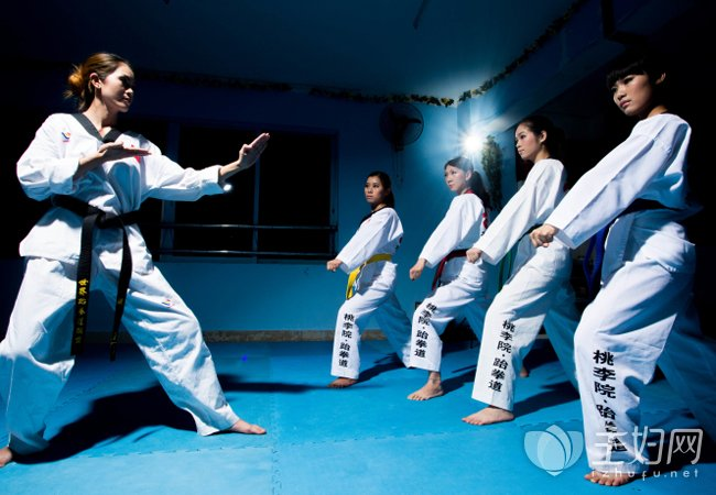 跆拳道已经成为女性瘦身的基本运动