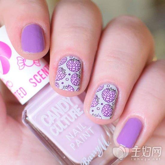 紫色美甲颜色