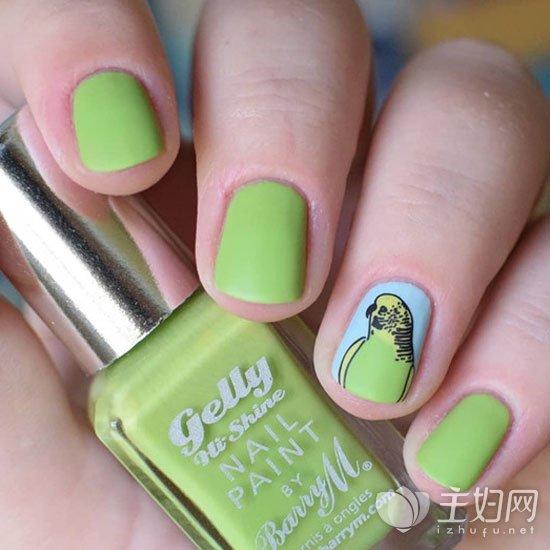 绿色美甲颜色