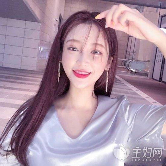 空气刘海长直发发型