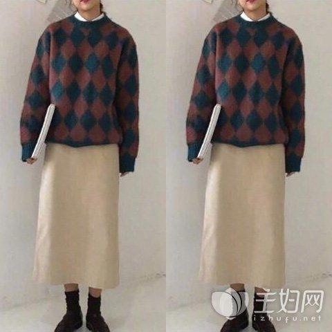毛衣搭配图片欣赏,毛衣怎么搭配裙子,毛衣裙子搭配什么裤子