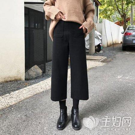 秋冬阔腿裤怎么搭配