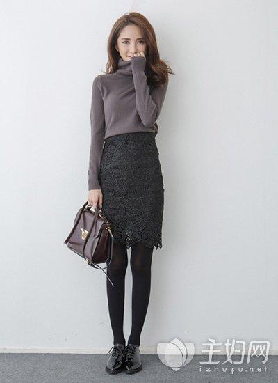 冬天半身裙怎么搭配