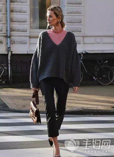 冬天毛衣怎么搭配好看