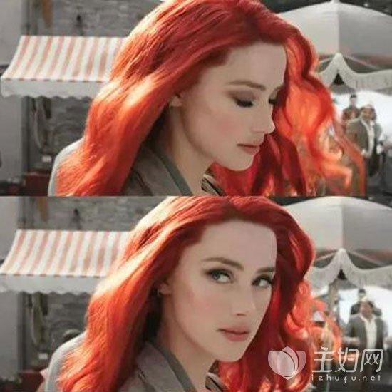 橙色头发显白发色