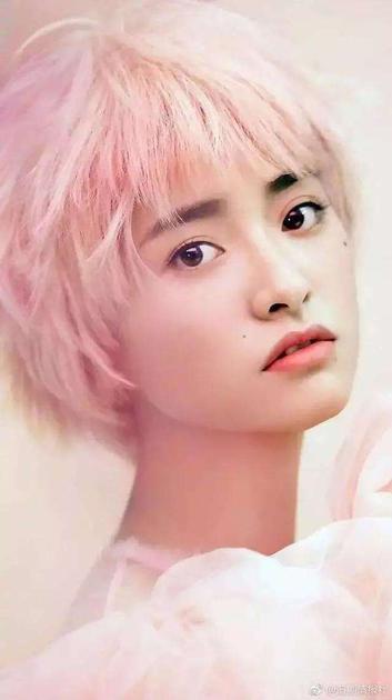 沈月粉色头发造型