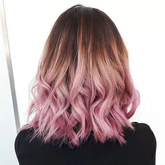 将粉色和棕色别离