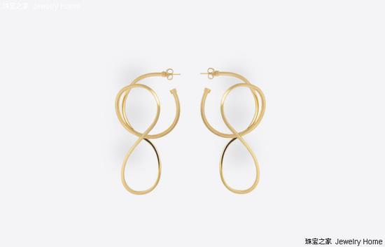 Balenciaga 圆环皮筋耳环 价格:RMB 3,330