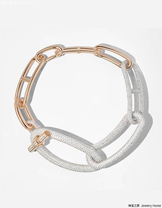 Hermès爱马仕 Enchainements libres高档珠宝系列 Grand Jete手镯