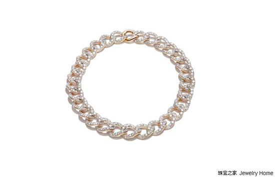 Pomellato宝曼兰朵Tango系列 项圈,18K玫瑰金,钻石