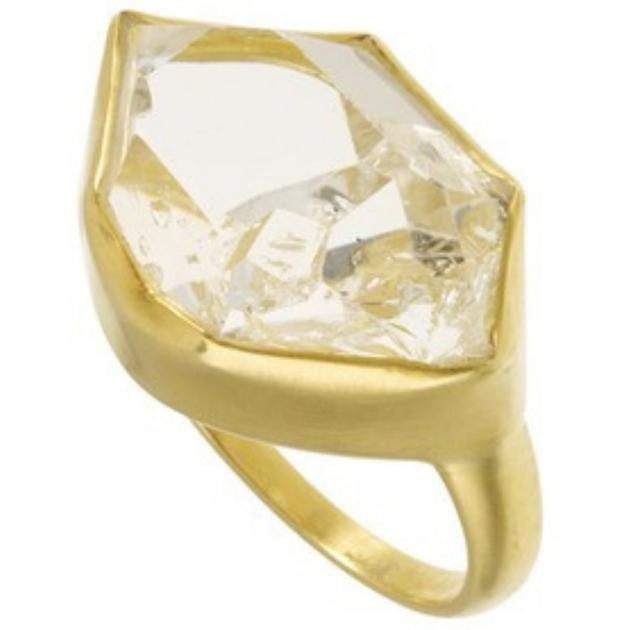 Pippa Small Herkimer 水晶戒指 1800英镑