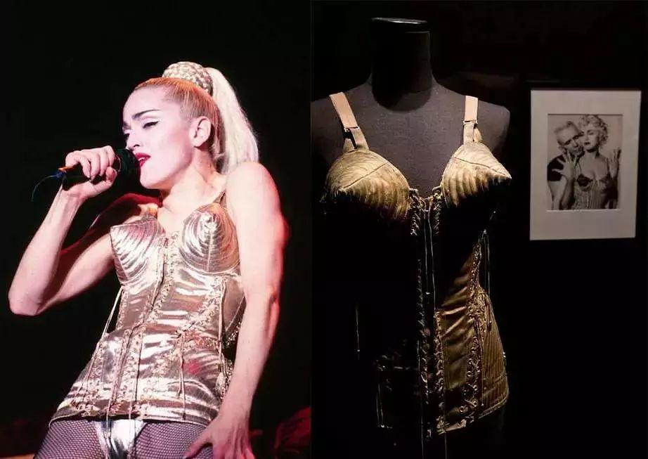 麦当娜穿高缇耶规划的圆锥形胸罩