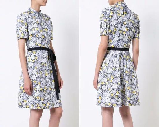 单品引荐:Carolina Herrera印花裙 16455元(图片来源于品牌官网)