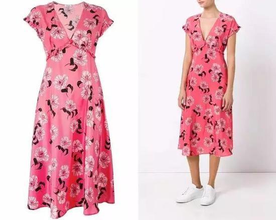 单品引荐:P.A.R.O.S.H。印花裹身裙 4104元(图片来源于品牌官网)