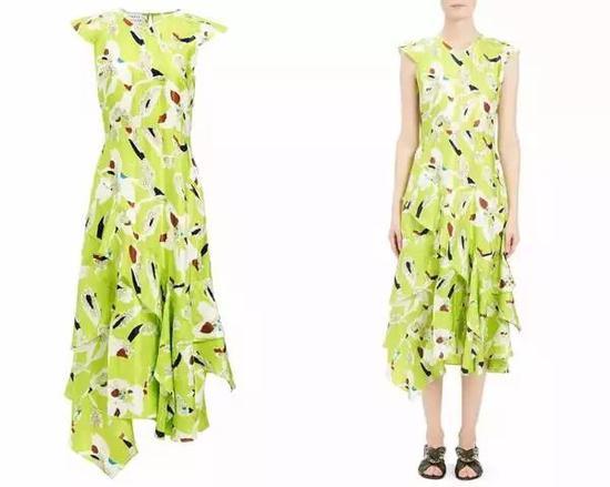 单品引荐:Tanya Taylor黄色印花裙 1828元 (图片来源于品牌官网)