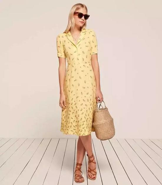 单品引荐:Reformation衬衫裙 1484元(图片来源于品牌官网)