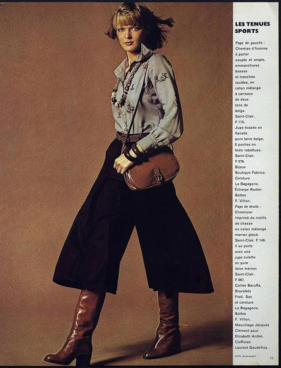 1974年《Vogue》巴黎版杂志内页 图片来历:Vogue
