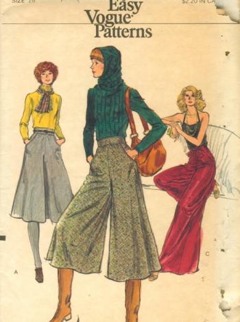 1970年代的阔腿裤 图片来历:Vogue