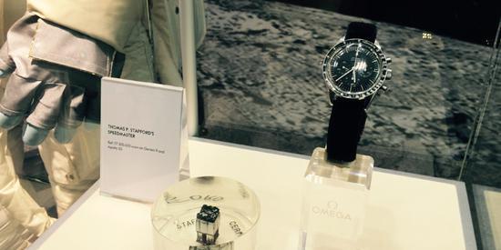 欧米茄博物馆内展出的月球表超霸