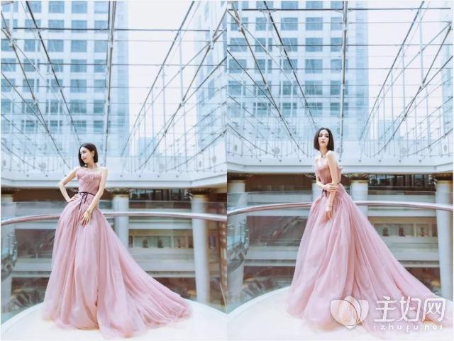 佟丽娅豆沙粉纱裙2.jpg