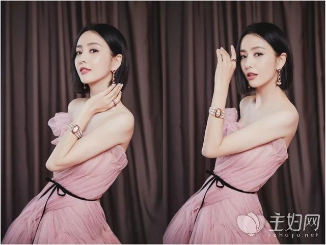 佟丽娅豆沙粉纱裙3.jpg